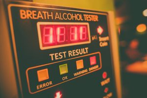 Close up shot of an alcohol tester on a wall for a top OWI lawyer Dayton